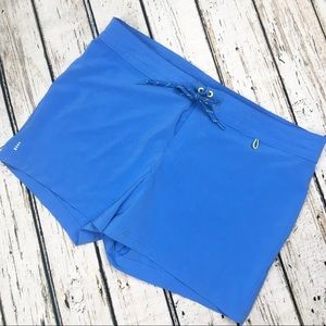 Lands End Board Shorts Swim Active Blue 16
